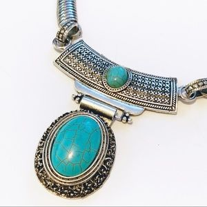 Jewelry - Southwestern Turquoise Silver Statement Necklace